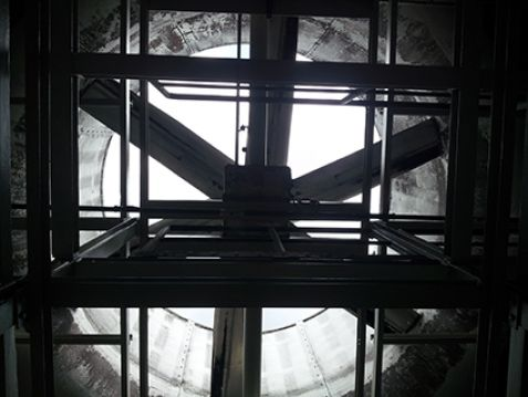 Interior of the cooling tower FRM II