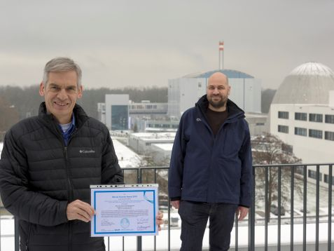 The award winners Dr. Ralph Gilles (left) and Dr. Markus Hölzel (right)