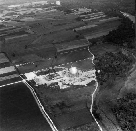 Arial View of the Atomic Egg in 1957